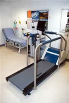 Exercise Treadmill Room - Typical layout of an exercise treadmill room. This test is used in the assessment of chest pain.
